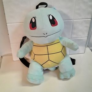 Pokemon squirtle turtle backpack plush